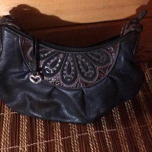 Authentic Brighton handbag brown and black w